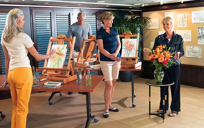Artist Loft Art Classes on Oceania Cruises