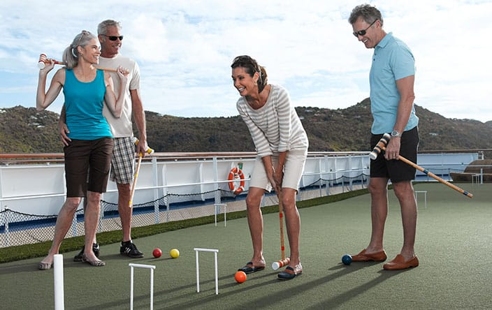 Shuffleboard on Oceania Cruises