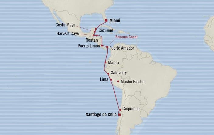 Oceania Cruises 18 Days From Santiago De Chile San