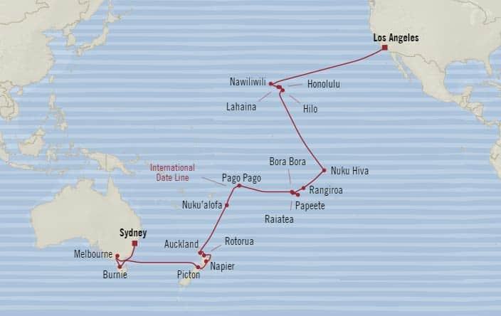 Oceania Cruises 38 Days From Sydney Australia To Los