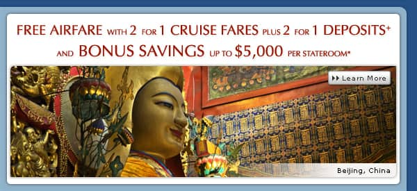 New Bonus Savings Offer plus Airfare & 2 for 1 Fares