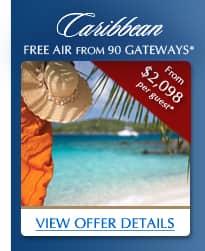 Caribbean | Free Air from 90 Gateways*