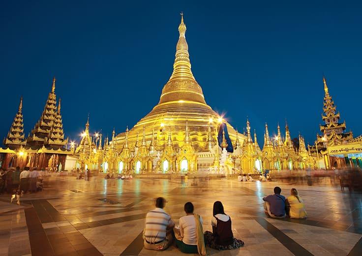Burmese Monk Donation Ceremony